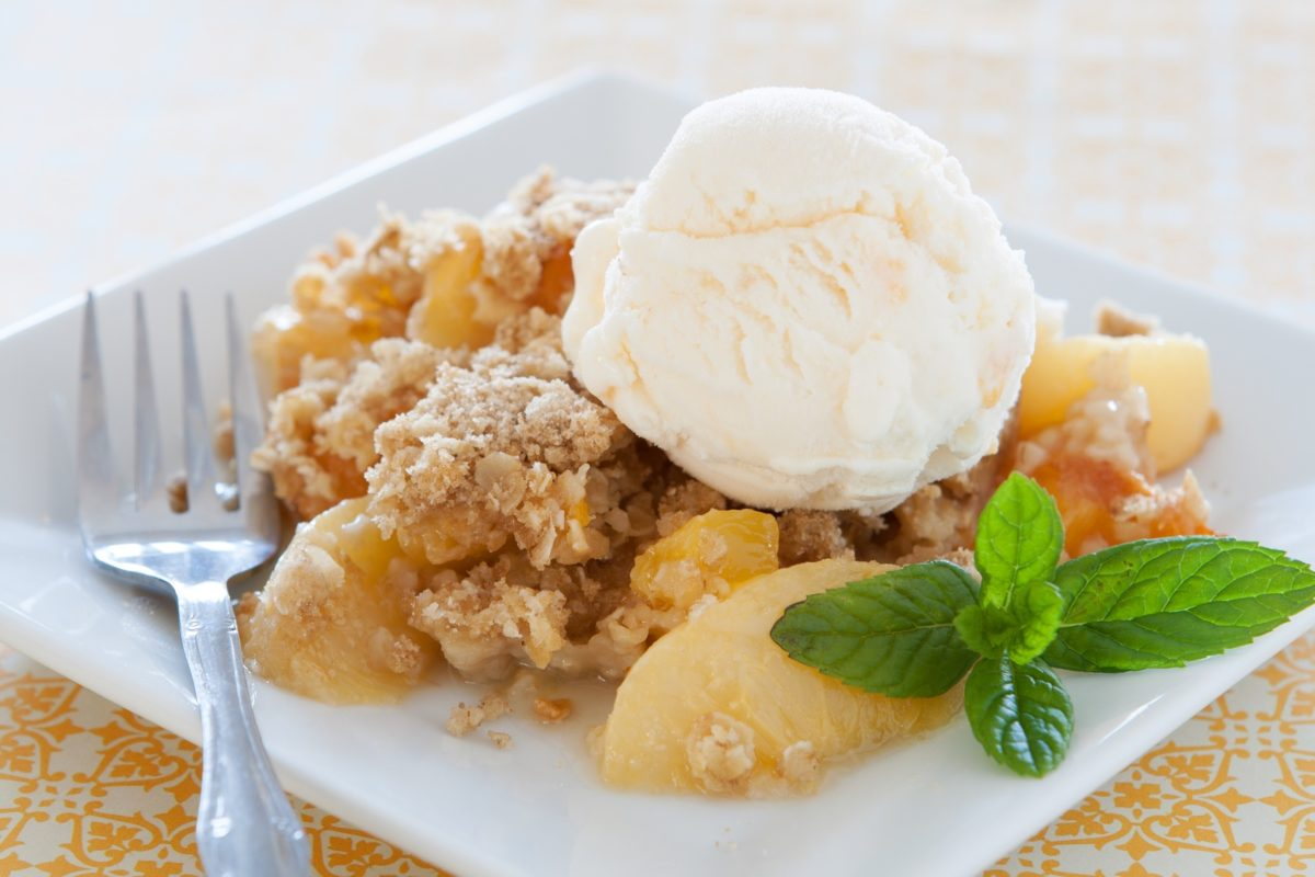 Recipe: Paleo Peach Crisp